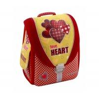 """Рюкзак каркасний шкільний """"Love Heart"""", Cool for School"""
