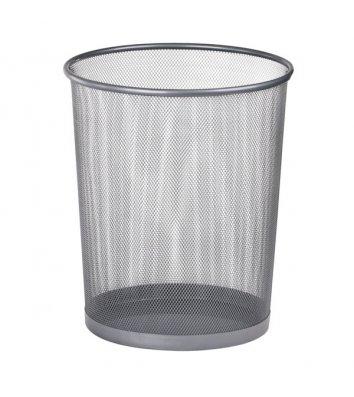 Корзина для мусора металлическая серебристая 10л, Buromax
