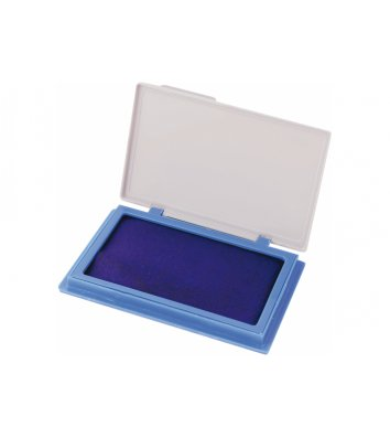 Подушка штемпельна настільна 70*110мм синя, Economix