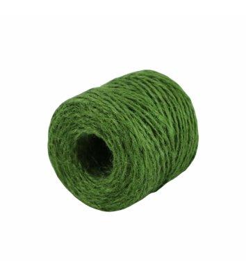 Шпагат джутовий двохнитковий зелений 45м бобіна, Радосвіт