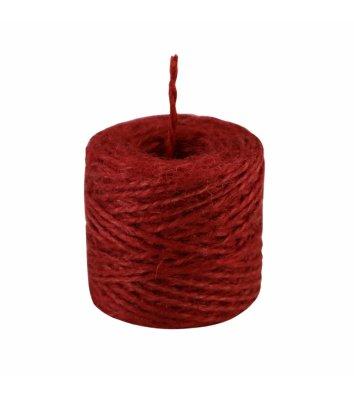 Шпагат джутовий двохнитковий червоний 45м бобіна, Радосвіт