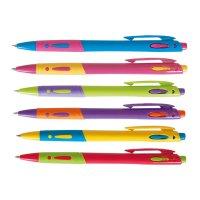Ручка кулькова автоматична, колір чорнил синій 0,7мм, Zibi