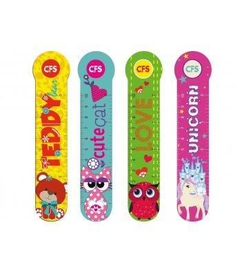 """Закладки пластиковые для книг 4шт """"Animals"""", Cool for School"""