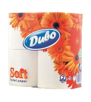 Туалетная бумага двухслойная 4рул/уп Диво целлюлозная, белая