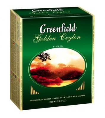 "Чай чорний Greenfield ""Golden Ceylon"" в пакетиках 100шт"