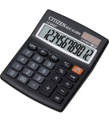 Калькулятор 12 розрядів 124*102*25мм, Citizen