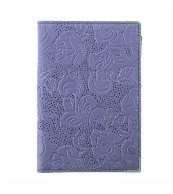 Обкладинка для паспорту шкіряна фіолетова, Desisan
