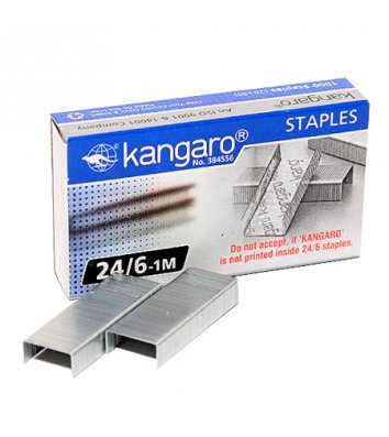 Скоби для степлера №24/6 1000шт, Kangaro