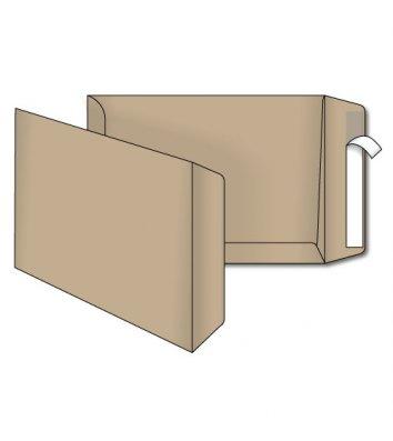Конверт B5 1шт крафт с отрывной лентой