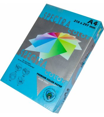 Бумага А4 120г/м2 250л цветная Spectra Color, интенсив синяя