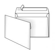 Конверт B5 1шт білий офсет з відривною стрічкою
