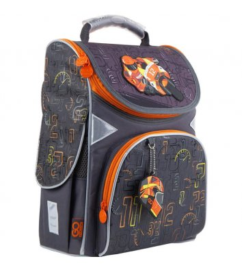 Рюкзак каркасный школьный GoPack Education Go moto, Kite