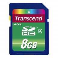 Карта памяти 8GB Transcend SDHC Class 4