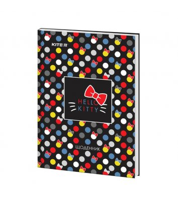 """Дневник школьный А5 48л твердая обложка """"Hello Kitty"""", Kite"""