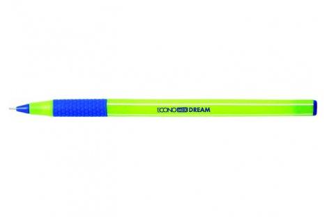 Ручка масляна Dream, колір чорнил синій 0,7мм, Economix