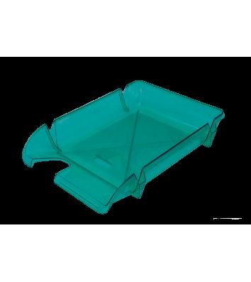 Лоток горизонтальний пластиковий салатовий прозорий Компакт, Arnika