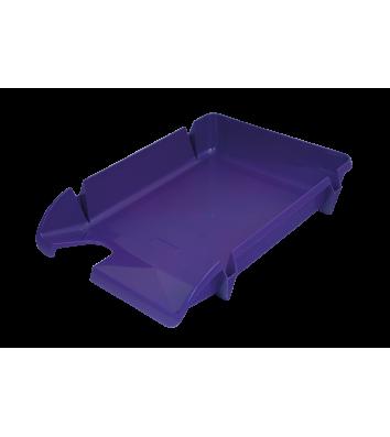 Лоток горизонтальний пластиковий фіолетовий непрозорий Компакт, Arnika