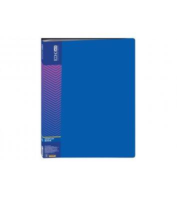 Папка А4 пластиковая 40 файлами синяя, Economix
