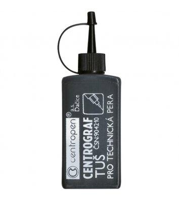 Тушь для рапидографа 18г цвет чернил черный, Centropen