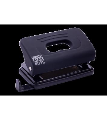 Діркопробивач  10арк корпус пластиковий Rubber Touch колір чорний, Buromax