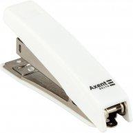 Степлер  10арк скоби 10  пластиковий корпус білий, Axent