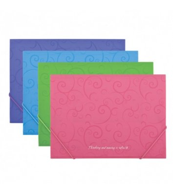 Папка А4 пластикова на гумках Barocco рожева, Buromax