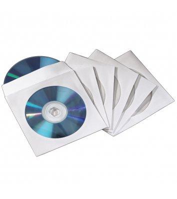 Конверт для CD 1шт белый офсет с прозрачным окном