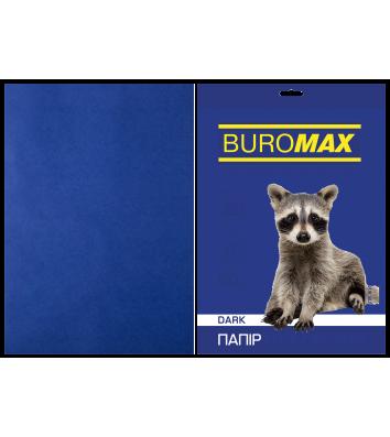 Папір А4  80г/м2  20арк кольоровий темно-синій, Buromax