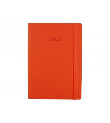 Ежедневник датированный A5 2020 Cross на резинке оранжевый, Optima