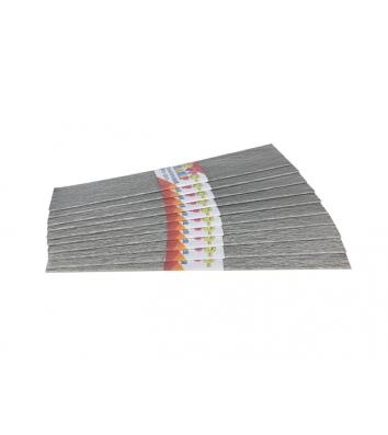 Бумага гофрированная перламутровая серебристая 50*200см