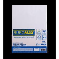 Папір офісний A4 80г/м2 100арк Euromax білий, Buromax