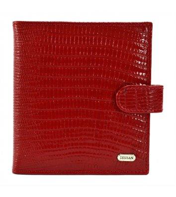 Візитниця для 40 візиток шкіряна Desisan, червона