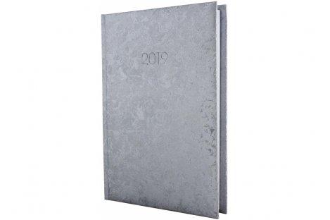 Щоденник датований А5 2019 Gallaxy сріблястий, Economix
