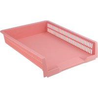 Лоток горизонтальний пластиковий рожевий Pastelini, Axent