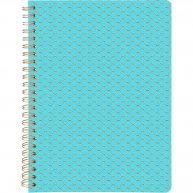 Блокнот A5 80арк лінія  Scale, бічна спіраль блакитний, Axent