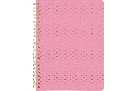 Блокнот A5 80арк лінія  Scale, бічна спіраль рожевий, Axent