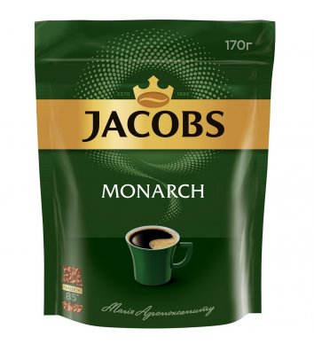 Кофе растворимый Jacobs Monarch 170г, эконом пакет