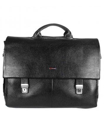 Портфель мужской кожаный черный 1315, Desisan