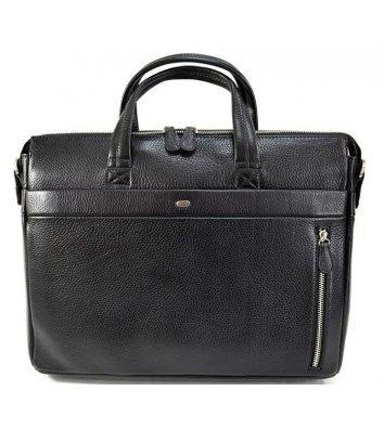 Портфель мужской кожаный черный 1335, Desisan