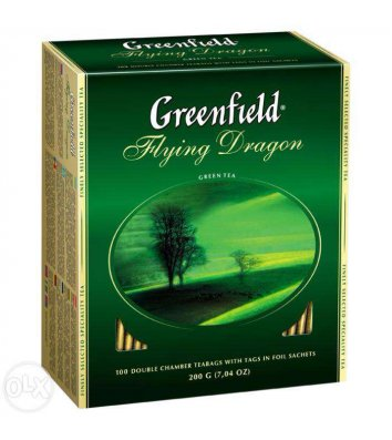 "Чай зеленый Greenfield ""Flying Dragon"" в пакетиках 100шт"