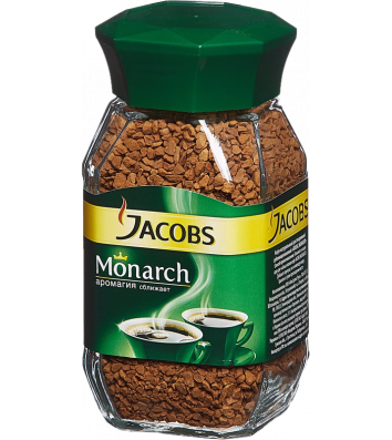 Кофе растворимый Jacobs Monarch 190г, стекло