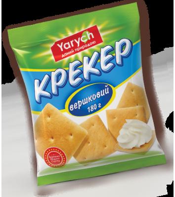 """Печиво крекер """"Вершковий"""" 180г, Yarych"""