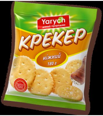 """Печиво крекер """"Ніжний"""" 180г,  Yarych"""