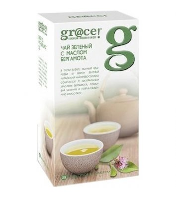 Чай зелений gr@ce! з маслом бергамота в пакетиках 25шт