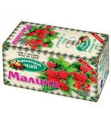 """Чай трав'яний Карпатський """"Малина"""" в пакетиках 20шт"""