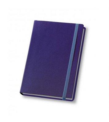 Щоденник напівдатований A5 Cross на гумці синій, Optima