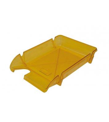 Лоток горизонтальний пластиковий жовтий прозорий Компакт, Arnika