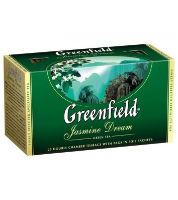 "Чай зелений Greenfield ""Jasmine Dream"" в пакетиках 25шт"