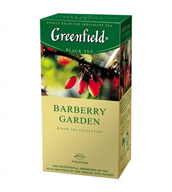 "Чай чорний Greenfield ""Barberry Garden"" з барбарисом в пакетиках 25шт"