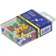 Кнопки - цвяшки кольорові 50шт, Buromax